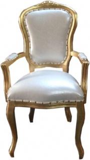 Barock Luxus Esszimmer Stuhl mit Armlehnen - ALLE FARBEN - Hotel & Restaurant Bestuhlung