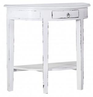 casa padrino konsolentisch mit schubladen antik wei shabby chic halbmond tisch sekret r. Black Bedroom Furniture Sets. Home Design Ideas
