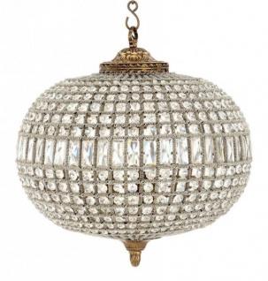 Casa Padrino Luxus Kronleuchter - Luxus Hängeleuchte Antik Messing Durchmesser 52 x H 52 cm