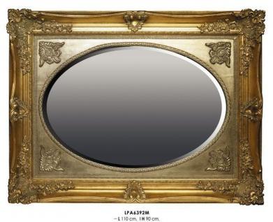 Casa Padrino Barock Wandspiegel Gold H 110 cm B 90 cm - Edel & Prunkvoll - Goldener Spiegel