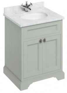 Casa Padrino Luxus Waschschrank / Waschtisch mit Marmorplatte und 2 Türen 67 x 55 x H. 93 cm