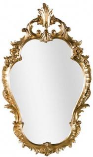 Casa Padrino Luxus Barock Wandspiegel Gold 58 x 4 x H. 98 cm - Prunkvoller Spiegel im Barockstil - Barock Möbel
