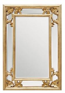 Casa Padrino Barock Wandspiegel Gold H 96 cm B 66 cm - Edel & Prunkvoll - Goldener Spiegel