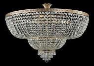 Casa Padrino Barock Kristall Decken Kronleuchter Gold 100 x H 68.8 cm Antik Stil - Möbel Lüster Leuchter Hängeleuchte Hängelampe