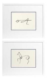 Casa Padrino Bilder 2er Set Picasso 65 x H. 154 cm - Luxus Hotel Dekoration