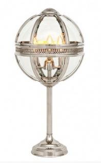 Casa Padrino Barock Tischleuchte vernickelt Kugel Silber Durchmesser 43 cm, Höhe 83.5 cm - Barock Schloss Lampe Leuchte Laterne - Vorschau 1