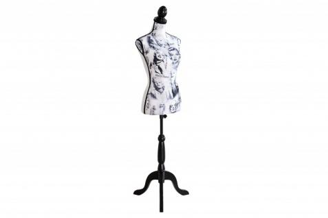 Casa Padrino Retro-Style Schneiderbüste Marilyn in Schwarz Weiss - Barock Mannequinn - Vorschau 2