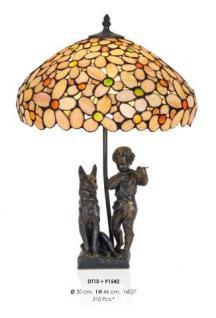 Handgefertigte Tiffany Dekoleuchte Figurenleuchte Höhe 46 cm, Durchmesser 30 cm - Leuchte Lampe - Statuette