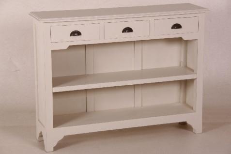 Casa Padrino Landhaus Stil Konsolen Tisch mit 3 Schubladen weiß - Shabby Chic Möbel