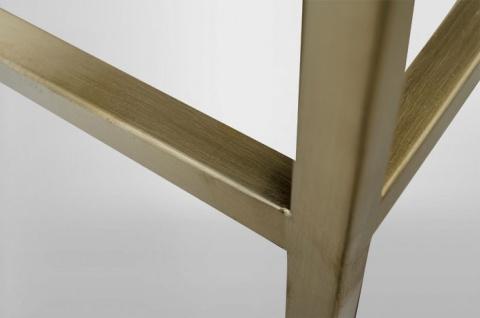 Casa Padrino Art Deco Luxus Regal Schrank Edelstahl Gold mit getönten Glasböden H210 x 98 x 35 cm - Bücherregal Regal Schrank - Jugendstil Möbel - Vorschau 2