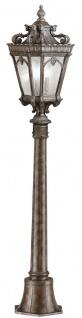 Casa Padrino Barock Gartenlaterne Antik Bronze Ø 19, 1 x H. 110 cm - Elegante Außenstehleuchte aus hochwertigem Aluguss - Nostalgische Außenbeleuchtung
