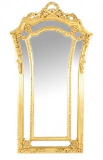 Riesiger Casa Padrino Luxus Barock Wandspiegel Venice Gold 210 x 115 cm - Massiv und Schwer - Goldener Spiegel