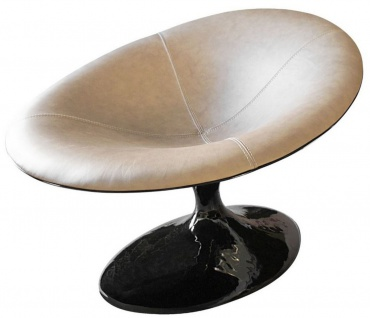Casa Padrino Designer Sessel Hochglanz Schwarz / Beige 86 x 110 x H. 70 cm - Wohnzimmer Sessel - Hotel Sessel - Designer Möbel - Luxus Qualität