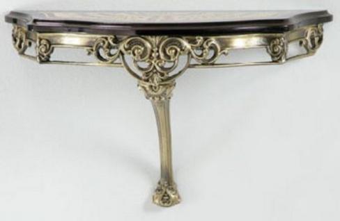 Casa Padrino Luxus Barock Wandkonsole Schwarz / Rot / Gold / Bronze 62 x 25 x H. 38 cm - Wanddeko Konsole im Barockstil - Barock Möbel - Luxus Qualität