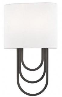 Casa Padrino Luxus Wandleuchte Antik Bronze / Weiß 20, 3 x 9, 5 x H. 34, 3 cm - Designer Wandlampe mit Lampenschirm