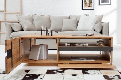 Casa Padrino Designer Fernsehschrank Natur Eiche B.115 x H.40 x T.60 - Sideboard - Kommode - Handgefertigt Massivholz! - Vorschau 2