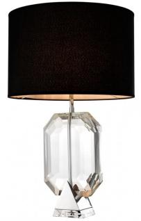 Casa Padrino Designer Tischleuchte Silber - Luxus Hotel Leuchte