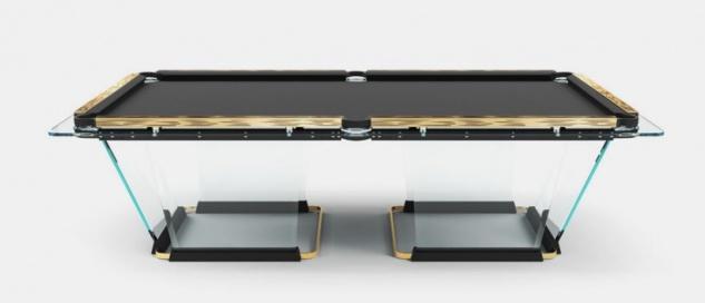 Casa Padrino Luxus Designer Pool Billardtisch 9ft Schwarz / Gold 290 x 163 x H. 82 cm - Hotel Kollektion - Luxus Qualität