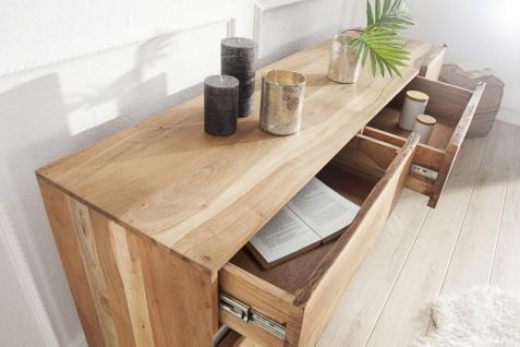 Casa Padrino Luxus Sideboard Natur B.170 x H.90 x T.45 - Fernsehschrank - Kommode - Handgefertigt aus massivem Akazienholz! - Vorschau 2