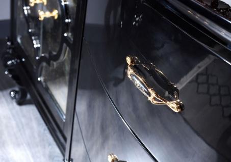 Casa Padrino Luxus Barock Wohnzimmer Set Schwarz / Gold - Prunkvolle Kommode und 3 Wandspiegel - Barock Möbel - Luxus Qualität - Vorschau 2