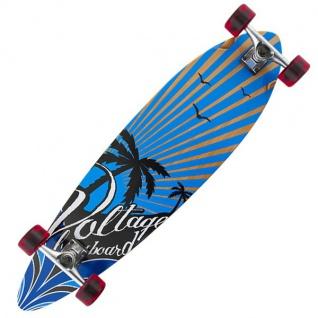 Voltage Longboard Komplettboard Palm Tree Blue 38 x 9.75 inch - Complete - Vorschau