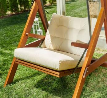 Casa Padrino Luxus Hollywood Schaukel Cremefarben / Braun - Moderne Wetterfeste Garten Schaukel mit Sonnendach - Terrassen Möbel - Garten Möbel - Luxus Kollektion - Vorschau 3