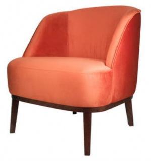 Casa Padrino Lounge Sessel Orange / Braun 66 x 66 x H. 70 cm - Luxus Kollektion