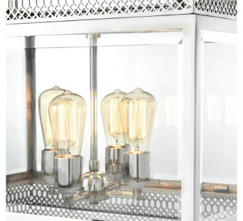 Casa Padrino Luxus Kronleuchter Silber 60 x 42 x H. 84 cm - Hotel Restaurant Möbel - Vorschau 3