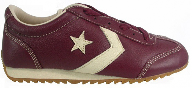 Converse Schuhe Leather Trainer Cran/Prchmnt Bordeaux Skateboard Sneakers Shoes