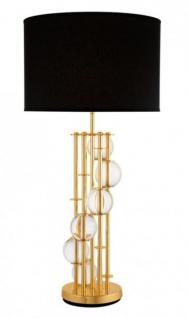Casa Padrino Luxus Tischleuchte Gold 20 x 43 x H 85 cm - Leuchte - Tischleuchte