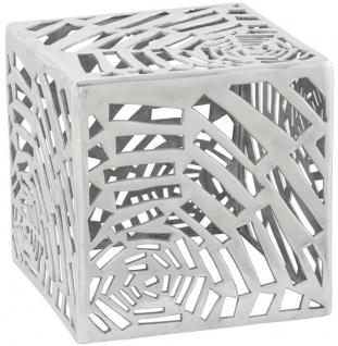 Casa Padrino Beistelltisch Silber 37 x 37 x H. 37 cm - Moderner Aluminium Tisch in Würfelform - Wohnzimmermöbel