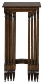 Casa Padrino Luxus Beistelltisch Braun / Dunkelbraun 37 x 34 x H. 73 cm - Ausziehbarer Mahagoni Tisch - Vorschau 2