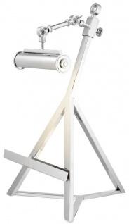 Casa Padrino Buchständer mit Licht nickel finish - Luxus Buchstütze