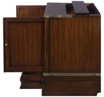 Casa Padrino Luxus Mahagoni Bücherschrank mit 2 Türen und Schublade Dunkelbraun 86 x 47 x H. 68 cm - Luxus Büromöbel - Vorschau 4