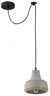 Casa Padrino Hängeleuchte / Pendelleuchte Grau Ø 16, 5 x H. 15 cm - Moderne Leuchte mit Beton Lampenschirm