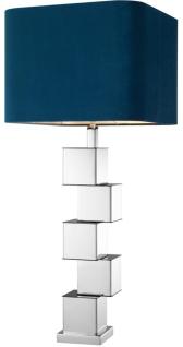 Casa Padrino Designer Tischleuchte 15 x H. 91 cm - Luxus Tischlampe