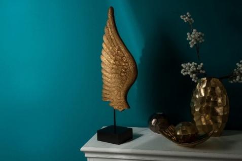 Casa Padrino Luxus Deko Holz Flügel mit Sockel Naturfarben / Schwarz 24 x 13 x H. 66 cm - Deko Accessoires - Vorschau 5