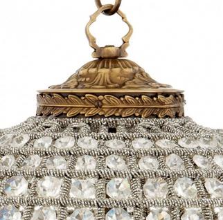 Casa Padrino Luxus Kronleuchter - Luxus Hängeleuchte Antik Messing Durchmesser 38 x H 45 cm - Vorschau 2
