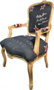 Casa Padrino Barock Salon Stuhl New Zealand / Holzfarbig - Neuseeland Fashion Möbel - Vorschau 3