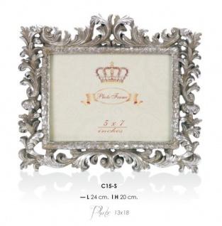 Casa Padrino Barock Bilderrahmen Silber Antik Stil 20 x 24 cm - Bilder Rahmen Foto Rahmen Jugendstil Antik Stil Mod AX6