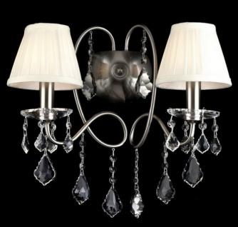 Casa Padrino Barock Kristall Wandleuchte Nickel 44 x H 37 cm Antik Stil - Wandlampe Wand Beleuchtung