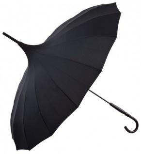 Regenschirm Pagode Schwarz Model Paris - Jugendstil Design - Eleganter Stockschirm - Vorschau 1