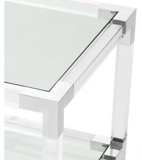 Casa Padrino Wohnzimmer Beistelltisch 60 x 60 x H. 60 cm - Luxus Designer Möbel - Vorschau 3