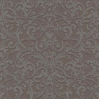 Casa Padrino Barock Textiltapete Braun / Silber - 10, 05 x 0, 53 m - Stofftapete mit strukturierter Oberfläche