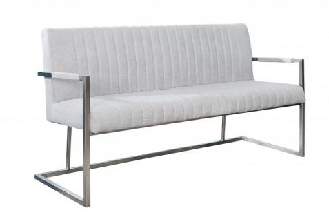 Casa Padrino Designer Sitzbank Stone Grau Breite 160 cm, Höhe 80 cm