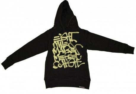 8Mileshigh Skateboard Damen Pullover Basic Hoodie Black/Yellow sweater