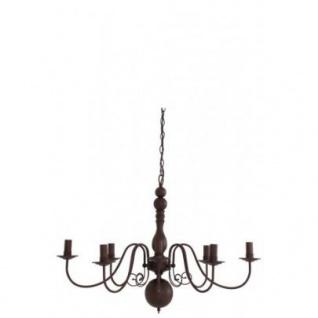 Casa Padrino Barock Decken Kronleuchter Braun Durchmesser 86 x H 60 cm Antik Stil - Möbel Lüster Leuchter Deckenleuchte Hängelampe
