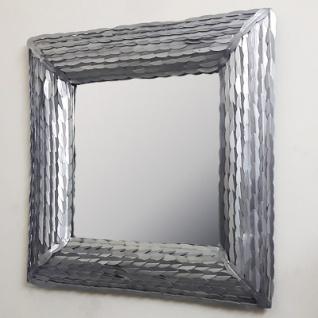 Casa Padrino Designer Wandspiegel Silber 85 X 85 Cm Wohnzimmer