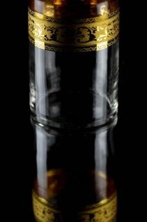 Casa Padrino Luxus Barock Whisky Karaffe Gold Ø 12, 5 x H. 20 cm - Mundgeblasene und handgravierte Glas Karaffe - Hotel & Restaurant Accessoires - Luxus Qualität - Vorschau 4