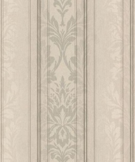Casa Padrino Barock Textiltapete Creme / Grau / Anthrazit 10, 05 x 0, 53 m - Wohnzimmer Tapete - Deko Accessoires